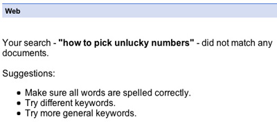 Picking Unlucky Numbers « Bold Lentil